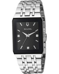 Bulova Futuro Quadra Link Bracelet Watch - Metallic