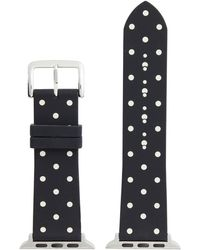 Kate Spade Black Dot Leather Band For Apple Watch®
