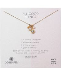 Dogeared - All Good Things, Moonstone Peal Cluster Necklace (gold Dipped) Necklace - Lyst