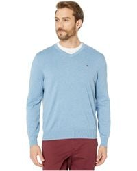 Tommy Hilfiger Signature Solid V-neck Sweater, Created For Macy's - Gray