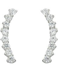 Vince Camuto - Cubic Zirconia Thin Stud Earrings (silver) Earring - Lyst