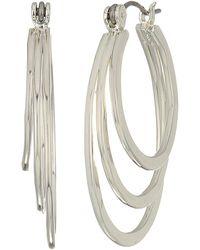 Robert Lee Morris - Multi Circle Hoop Earrings (silver) Earring - Lyst