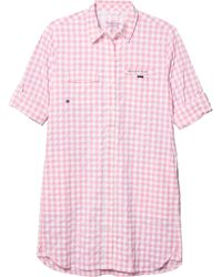 Vineyard Vines Gingham Harbor Shirt Cover-up - Pink