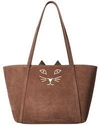 Charlotte Olympia | Mini Feline Shopper | Lyst