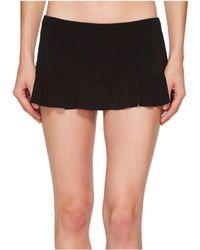 Robin Piccone - Lina Ruffle Skirted Bikini Bottom (black) Women's Swimwear - Lyst