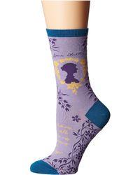 Socksmith - Jane Austen (steel Blue) Women's Crew Cut Socks Shoes - Lyst