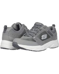 daaafc654c7f Skechers - Oak Canyon (gray white) Men s Lace Up Casual Shoes - Lyst