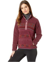 Burton - Hearth Fleece Pullover (port Royal/port Royal Freya Weave) Women's Fleece - Lyst