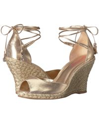 Lilly Pulitzer - Aleena Wedge (gold Metallic) Women's Wedge Shoes - Lyst