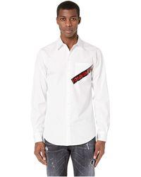 DSquared² - Punk Logo Tape Carpenter Shirt - Lyst