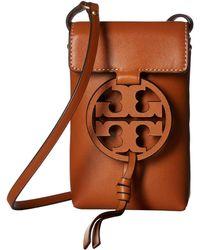 01de18406f708 Tory Burch - Miller Phone Crossbody (aged Camello) Cross Body Handbags -  Lyst