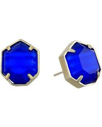Kendra Scott - Taylor Earrings (gold/cobalt Cats Eye) Earring - Lyst