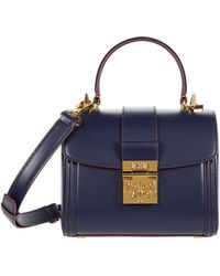 MCM Tracy Satchel Small - Blue