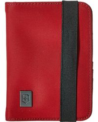 Victorinox - Passport Holder With Rfid Protection (red/black Logo) Wallet - Lyst
