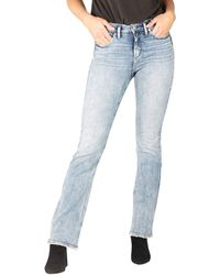 Silver Jeans Co. - Avery High-rise Curvy Fit Slim Boot Jeans L94627epx152 - Lyst