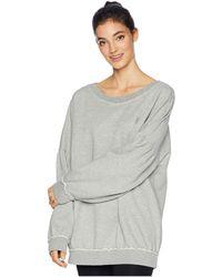 Free People - Make It Count Sweatshirt (grey Combo) Women's Workout - Lyst