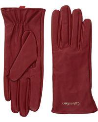 CALVIN KLEIN 205W39NYC - Basic Leather Gloves - Lyst
