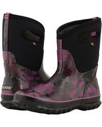 Bogs - Classic Mid Vintage Floral (black Multi) Women's Rain Boots - Lyst