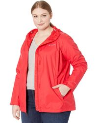 Columbia Plus Size Arcadia Ii Jacket Coat - Red