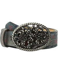 Ariat - Floral Scroll With Oval Buckle Belt - Lyst