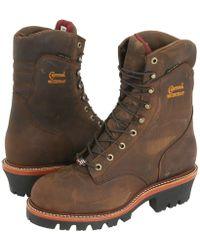 Chippewa 8 Bay Apache Insulated Waterproof Steel Toe Logger - Brown