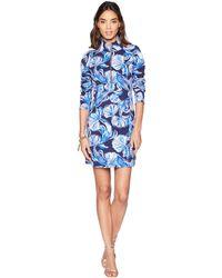 Lilly Pulitzer - Upf 50+ Skipper Dress (bright Navy In Reel Life) Women's Dress - Lyst