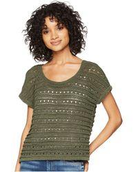BB Dakota - Larter Drop Needle Crop Sweater (olive) Women's Sweater - Lyst