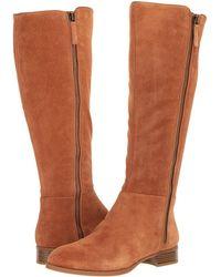 Nine West - Nihari Tall Boot (black Suede) Women's Boots - Lyst