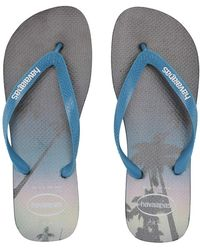 e89ed877b60574 Lyst - BOSS Athleisure Wave Sandal Logo Navy Blue Thong Flip Flops ...
