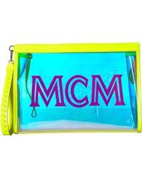 MCM - Luccent Pouch Medium (neon Yellow) Handbags - Lyst