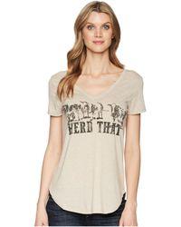 Wrangler - Western Fashion Knit Shirt (oatmeal) Women's Clothing - Lyst