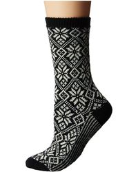 Smartwool - Traditional Snowflake (lochness Heather) Women's Crew Cut Socks Shoes - Lyst
