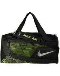 9167575942 Nike - Vapor Max Air Training Medium Duffel Bag (black volt metallic Silver