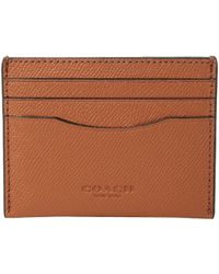 e478488776bc Lyst - Coach Card Case In Signature Crossgrain Leather in Brown for Men