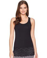 Felina - Jessica Modal Tank Top With Galloon Lace Hem (heather Gray) Women's Pajama - Lyst
