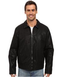 Calvin Klein - Faux Leather Shirt Collar Jacket (black) Men's Coat - Lyst