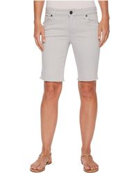 Kut From The Kloth - Natalie Bermuda Fray Hem In Cool Grey - Lyst