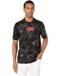 02be47d0e24 PUMA - Camo Pack Aop Tee (birch Aop) Men s T Shirt - Lyst