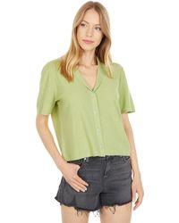 RVCA Baseline Short Sleeve Button-up - Green