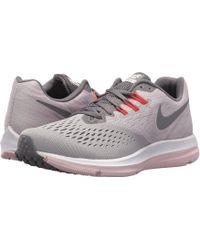 7138baca2e3 Nike - Air Zoom Winflo 4 (atmosphere Grey gunsmoke arctic Pink) Women s