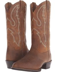 Ariat - Sport R Toe (earth/sable) Cowboy Boots - Lyst