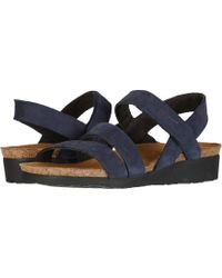 ec6afba7ced5 Naot - Kayla (black Luster Leather) Women s Sandals - Lyst