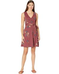 Toad&Co Cue Wrap Sleeveless Dress - Red