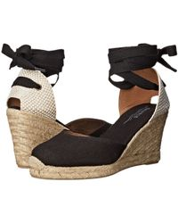 Soludos - Tall Wedge Linen (blush) Women's Wedge Shoes - Lyst