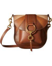 Frye - Ilana Color Block Saddle (cognac Multi Oiled Veg) Handbags - Lyst