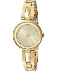 Citizen - Em0638-50p Eco-drive (gold Tone) Watches - Lyst