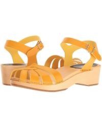 Swedish Hasbeens - Cross Strap Debutant (red) Women's Sandals - Lyst