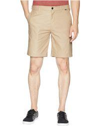 """NEW Hurley Dri-Fit beige tan heather BREATHE chino walk shorts  sz 38 x 22/"""""""