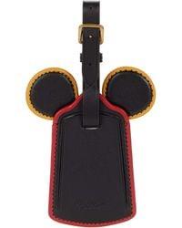 COACH Mickey Leather Ear Luggage Tag - Black