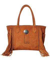 Scully Valentine Suede Fringe Handbag - Brown